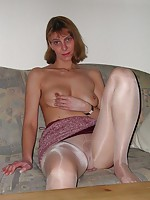Private photos of housewives wearing pantyhose